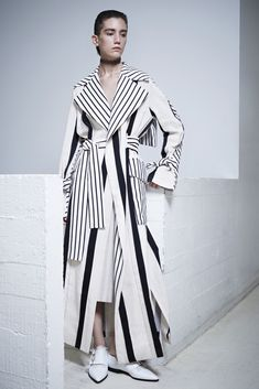 Acne Studios Resort 2016 - Collection - Gallery - Style.com ...a mix of stripes on a classic maxi-trench, hmmm...