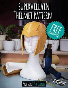 Cosplay DIY Armor Tutorial |  Free Supervillain Helmet Pattern