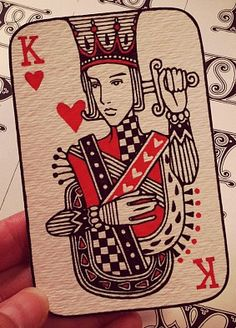 King of Hearts by Audrey Kawasaki #PlayingCards - Carefully selected by GORGONIA www.gorgonia.it