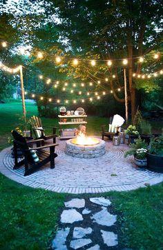 Patio Diy, Backyard Patio Designs, Front Yard Landscaping, Landscaping Ideas, Patio Ideas, Backyard Ideas, Backyard Chairs, Pavers Ideas, Firepit Ideas