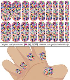 Mosaic Jamberry NAS Nail Wrap Design. Why bother with nail art designs and polish when Jamberry nail wraps are so much easier? Get the pretty nails you've always wanted for a fraction of the cost of a salon visit. #iheartnailwraps #nailart #naildesigns #jamberry #jamberrynas #jamicure #nails #mosaicnals