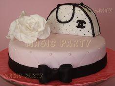 ¡Tarta Bolso de Channel! - Channel & Roses cake!