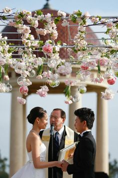 IN BUBBLES OR SMALL BVASES. Glass bubbles and bases are a great way to add an extra sparkle to your dangling flowers. what is that frame  constructed from?  Love this concept so darling.