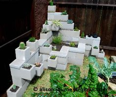 C a y l a w r a l: Cinder block garden from start to finish