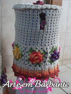Ateliê Martha Farineli: PAP Capa do Galão de Água de crochê em Barbante