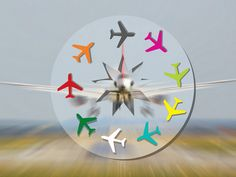 Airplanes, An image for a website introduction by David Damour