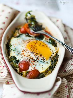 Baked Spinach Curry by turmericnspice #Eggs #Spinach #Curry #Healthy