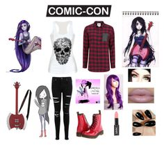 comic-con marceline by charezanne on Polyvore featuring polyvore, fashion, style, ONLY, Miss Selfridge and Dr. Martens