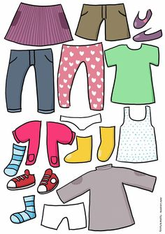 Creative Activities For Kids, Preschool Learning Activities, Paper Doll House, Paper Dolls, Clothing Templates, Teaching Weather, Word Games For Kids, Preschool Family, Autism Education