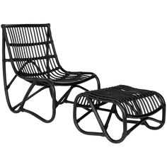 Safavieh Shenandoah Black Wicker Chair and Ottoman Set | Overstock.com Shopping - Great Deals on Safavieh Chairs