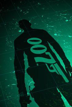 007 minimal by Nathaniel Vivero Cool Posters, Film Posters, Casino Royale Movie, George Lazenby, Bond Cars, Film World, Pierce Brosnan, Alternative Movie Posters, Movie Poster Art