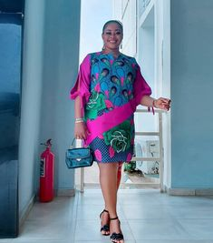 Simple A-Line Ankara Mini Gown Styles for Cute Ladies - African Fashion Styles Short African Dresses, Ankara Short Gown Styles, Short Gowns, African Print Dresses, Ankara Gowns, African Clothes, African Fashion Ankara, Latest African Fashion Dresses, African Print Fashion