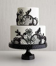 vintage black white wedding cakes The Choice of Beautiful Vintage Wedding Cakes