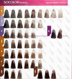 Matrix Socolor 1 Chart Dyed Blonde Hair Dye