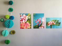 boules de papier et photos végétales pour un annniversaire - Sophie PLouvier