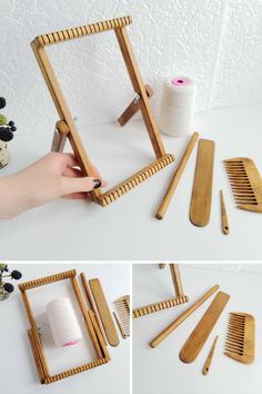 Weaving Loom Kit For Beginners, Table Loom With Stand, Craft Kit Kids And Adults. Weaving Loom Diy, Weaving Tools, Weaving Projects, Tapestry Loom, Small Tapestry, Craft Kits For Kids, Craft Ideas, Woven Wall Hanging, Weaving Patterns