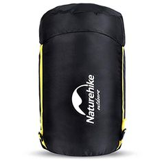 Free,OCOOKO Compression Sack Stuff Sacks Lightweight Nylon Bag Waterproof Pack Storage Bags for Outdoor Camping (Black)