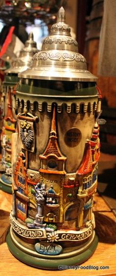 We're taking a tour of Epcot's Germany Pavilion in Walt Disney World today, as we check out beautiful handcrafted, limited edition beer steins! Beer Glassware, Christmas Beer, German Beer Steins, Beer Company, Beer Mugs, Craft Beer, Brewery, Germany, Image