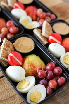 One of my favorite healthier on the go lunch or breakfast ideas is a Starbucks Protein Bistro Box. They recently updated it with even more protein by adding an extra hard boiled egg. My DIY version of Starbucks Protein Bistro Box is incredibly easy to mak Lunch To Go, Lunch Meal Prep, Easy Meal Prep, Healthy Meal Prep, Healthy Snacks, Easy Meals, Lunch Box, Lunches On The Go, Healthy Recipes For Lunch