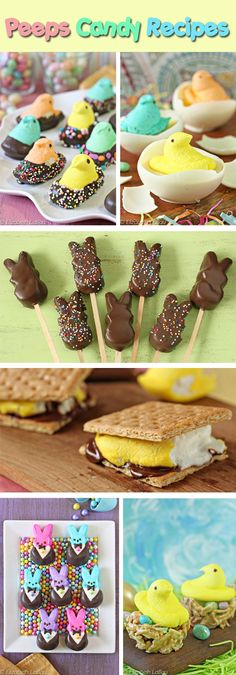 Peeps Candy Recipes for Easter! An awesome list of Peeps hacks like Peeps Pops, Peeps S'mores, and more! | From candy.about.com
