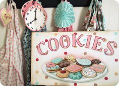 """cookies"" sign by Everyday is a Holiday"
