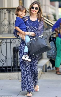 Balancing act:'#AskMiranda is it hard to be a mom and a model?' Joan Burr asked on Twitter