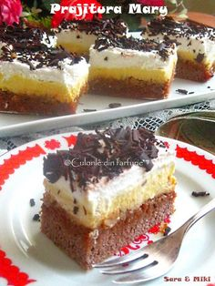 Recipe developer, author and photographer at Carve Your Craving. Romanian Desserts, Romanian Food, Romanian Recipes, Sweets Recipes, My Recipes, Cake Recipes, Christmas Sweets, Food Cakes, Pavlova