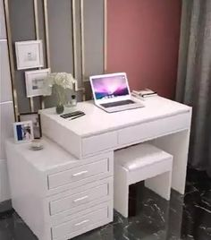Bedroom Closet Design, Bedroom Furniture Design, Room Ideas Bedroom, Small Room Bedroom, Bedroom Decor, Study Room Decor, Dressing Room Decor, Dressing Room Design, Furniture Dressing Table