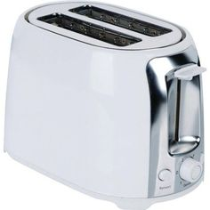 Brentwood 2-Slice Cool Touch Toaster, White and Stainless Steel