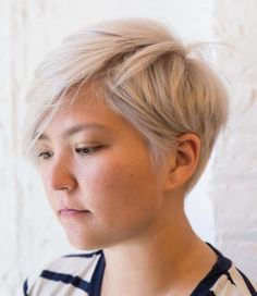 Ash Blonde Choppy Pixie For Round Face