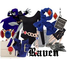 Raven from Teen Titans Casual Cosplay, Cosplay Outfits, Edgy Outfits, Cool Outfits, Teen Titans Outfits, Batman Outfits, Cartoon Outfits, Girls Fashion Clothes, Girl Fashion