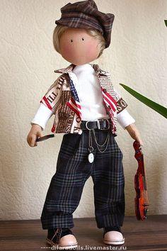 Коллекционные куклы ручной работы. Ярмарка Мастеров - ручная работа текстильная кукла TOM продан. Handmade.