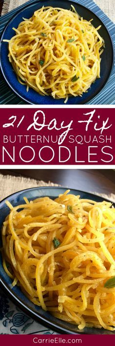 21 Day Fix Butternut Squash Noodles with Cinnamon and Sage (with Weight Watchers Points) – Flexitarian Diet Zoodle Recipes, Vegetarian Recipes, Cooking Recipes, Healthy Recipes, Spiralizer Recipes, Healthy Dinners, Clean Recipes, Pasta Recipes, Free Recipes