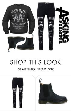 """Asking Alexandria"" by xaalenaax ❤ liked on Polyvore featuring Dr. Martens"