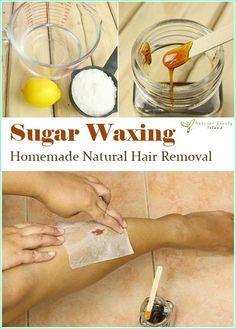 Easy Homesteading: Homemade Natural Sugar Waxing Hair Removal Recipe DIY