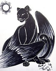 The World's Best Photos of panther and wings Tattoo Drawings, Art Drawings, Dreams And Visions, World Best Photos, Panthers, Black Panther, Black Art, Jaguar, Marker