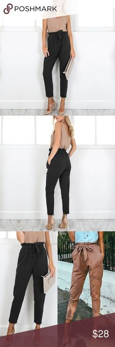 "SALE ! Casual and Trendy Pants Another TRENDY! Casual Pants, Ankle Length with Pockets and Belt, black color. Waist: 28"", hips: 38-40"". Soft and fresh thin material. Perfect for the season! Just didn't fit me as I wanted :(worn for 5 min ! Lol !! Jeans Ankle & Cropped"