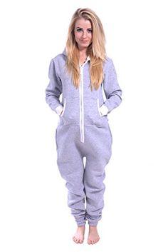 Newfacelook Women Ladies Plain Onesie Hoody All In One Zip One Piece Hoodie  Jumpsuit at Amazon Women s Coats Shop 6dd90cf131