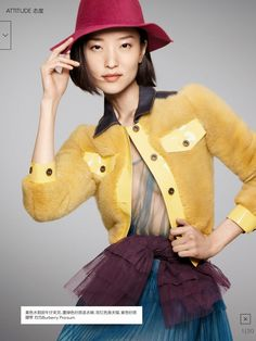 Du Juan in Burberry Spring 2015 for Vogue China February 2015