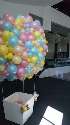 Beautiful free form hot air balloon sculpture for this special christening