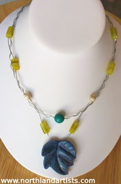 Handmade necklace by Susan Pauls. (sold)