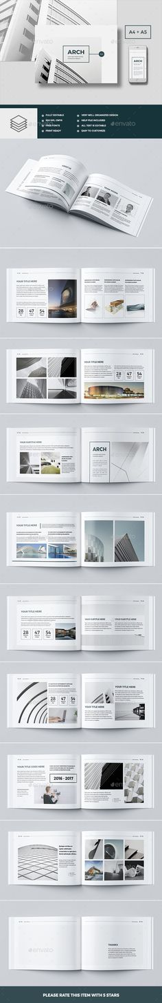 Modern Architecture Brochure 24 Pages A4 & A5 — InDesign INDD #architecture #dark • Available here ➝ https://graphicriver.net/item/modern-architecture-brochure-24-pages-a4-a5/20884628?ref=pxcr