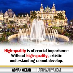 High quality is of crucial importance  Adnan Oktar (Harun Yahya)