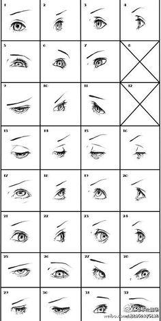 靓图 手绘 艺术 插画手绘 不同角度的眼睛~【Tentopet · 图】