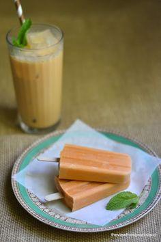 Thai iced tea popsicles.