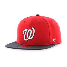 purchase cheap 9bac7 a91e6 Washington Nationals Lil Shot Two Tone Captain Red 47 Brand YOUTH Hat