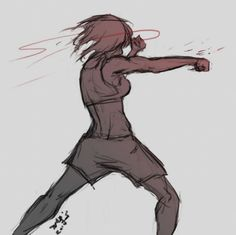 Decided to use Mikasa as an experiment, I really like how it came out Training Drawing Reference Poses, Drawing Poses, Drawing Sketches, Drawings, Manga Combat, Girl Pose, Fighting Poses, Boxing Girl, Poses References
