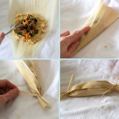 Veggie tamales! I used to make these with my aunt when I was a little girl!