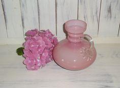 Krug Vase V.B Opaline Florence Italienisches Glas