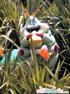 """Ah, one of my favorite """"Bug's Life"""" characters. I love how Disney has him tucked into a garden"""